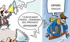 Reproducimos por considerarla de un gran interés nacional esta caricatura de Cristian Hernández
